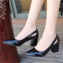 Women  Fashion Sexy Pointed Toe Sweet Colorful Woman Shoes Nude Womens high-heeled shoes, single shoes