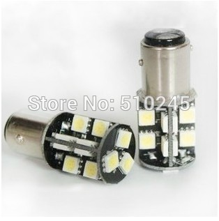 30x wholesale cheap 1157 BAY15D 19 SMD Red CANBUS OBC No Error Signal P21/5W Car 19 LED Light Bulb free shipping