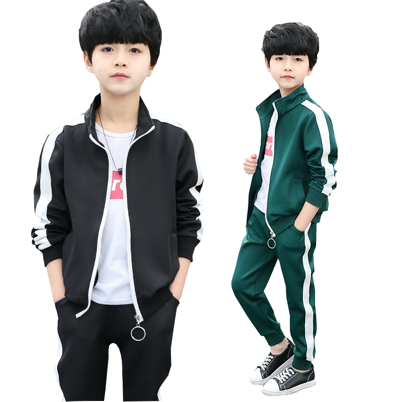 Boys clothes sport suit boys clothing sets school kids autumn suit striped long sleeve children clothing kids tracksuit costume kids clothes autumn winter boys gold velvet clothing set school children warm thicken sport suit fashion kids tracksuit