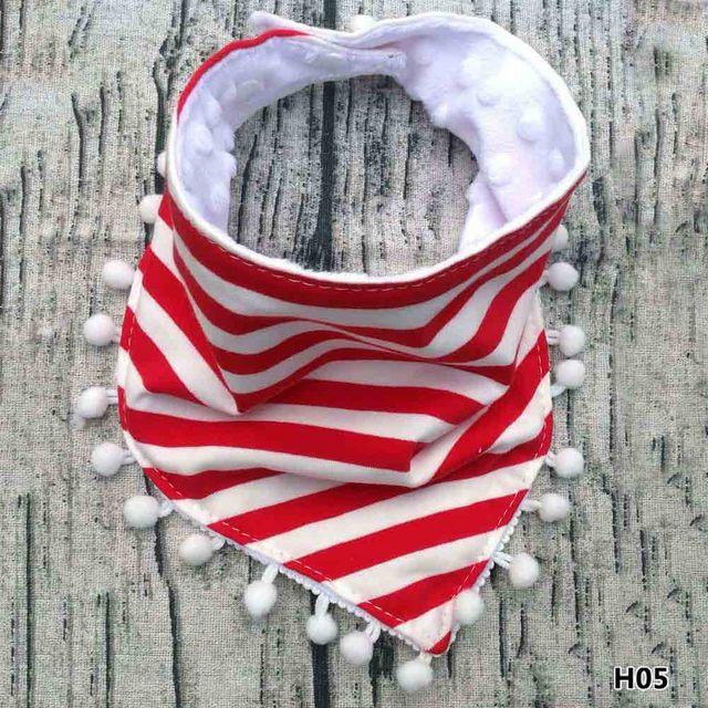 Baby Infant Bibs Girls Boy Kids Tassel Saliva Towel Bandana Triangle Head Scarf 13 Styles