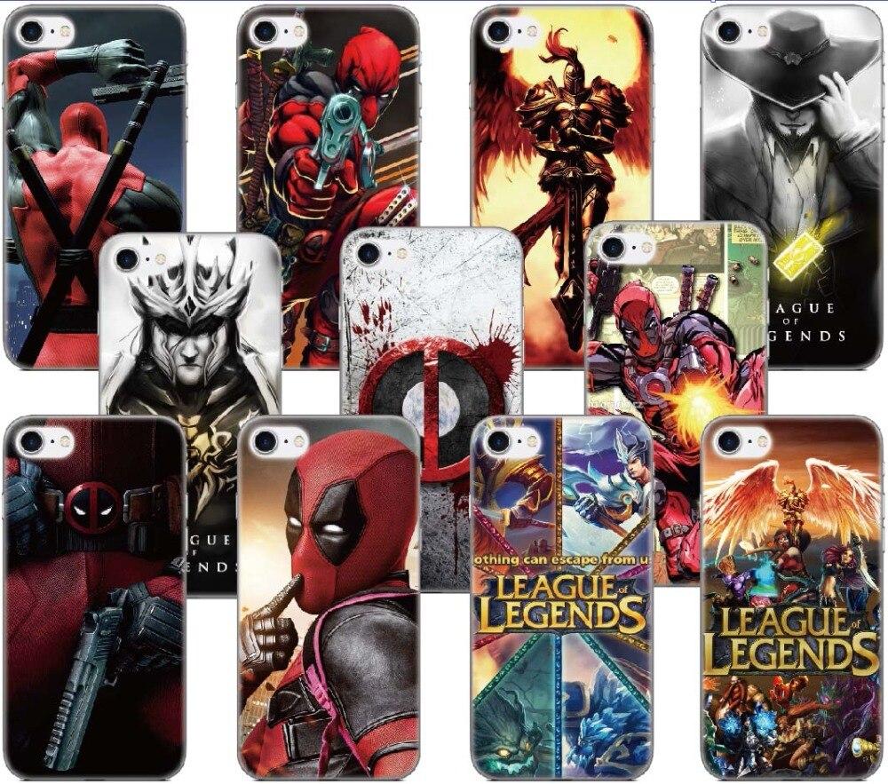 League of Legend Deadpool Capa Case For Samsung Galaxy A5 A7 2018 Version S9 Plus S5 S6 S7 Edge Note 3 4 5 E5 Phone Cover Coque