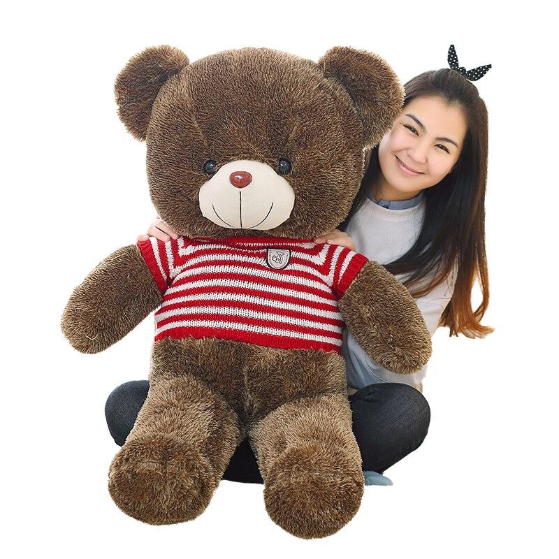 100 cm Grande taille Teddy bear doux En Peluche enfants Jouets en peluche poupée Portant un chandail