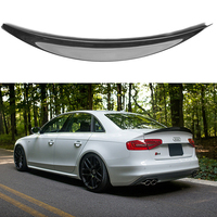 HK Style High Quality Carbon Fiber Rear Wing Roof Rear Trunk decorated Spoiler For Audi S4 A4 B8 B8.5 2009 2016