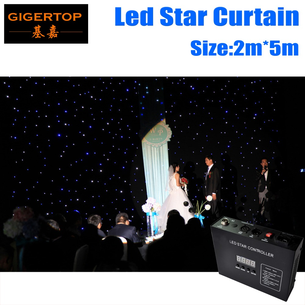 Free Shipping 2M*5M&5M*2M Led Star Curtain Super Quality RGBW LED Color Star Cloth LED Curtain Screen Party Dancing Hall Deco