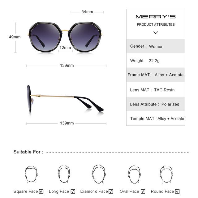 Gafas de sol polarizadas de diseño con gradiente, protección UV400