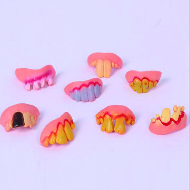 Funny Joke Toys Monster Teeth Novelty Toy Prank Startle Tooth Halloween Scary Crooked Children Adult For The April Fools Day Large Assortment Gags & Practical Jokes
