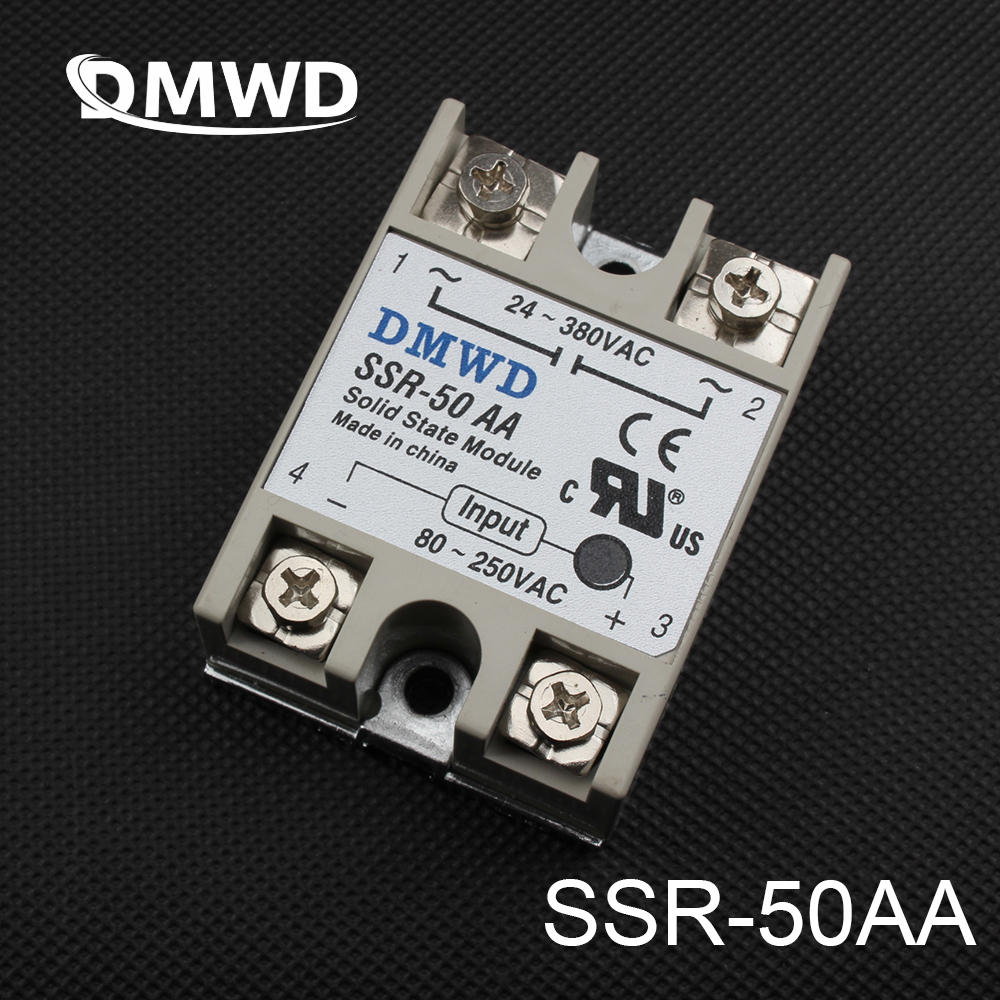 цена на 1pcs Free shipping solid state relay SSR-50AA 50A 80-250V AC TO 24-380V AC SSR 50AA relay solid state High qulity