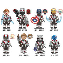 Avengers Series Black Widow Iron Man Thor Rocket Raccoon Legoed ประกอบบล็อกอาคารชุดของ(China)