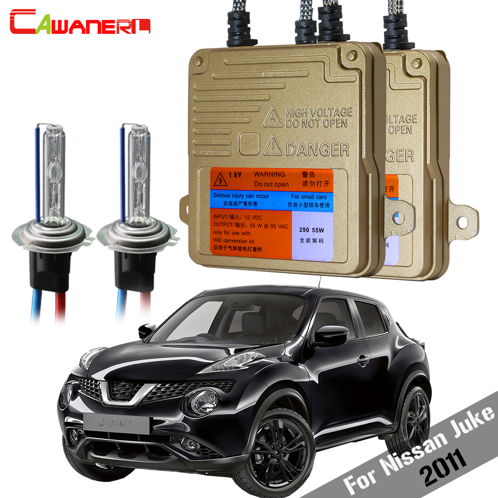 Cawanerl 55W Car Canbus Ballast Bulb 3000K 4300K 6000K 8000K HID Xenon Kit AC Auto Headlight High Beam For Nissan Juke 2011Cawanerl 55W Car Canbus Ballast Bulb 3000K 4300K 6000K 8000K HID Xenon Kit AC Auto Headlight High Beam For Nissan Juke 2011