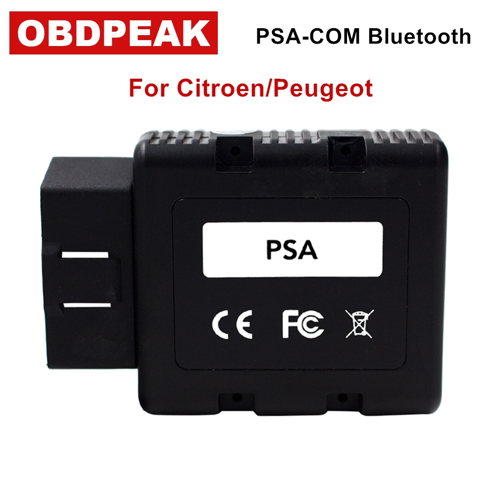 Newest For Citroen/Peugeot PSACOM PSA-COM Bluetooth Diagnostic Tool PSA COM OBD OBD2 For ECU/Key programming/DTC/Airbag obdstar f108 psa pin code reading and key programming tool for peugeot citroen ds f108 newly add k line