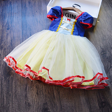 Fancy Snow White Birthday Dress Up Baby Girl Party Carnival Costume For Kids Dresses For Girls Princess Dress Children Clothing 2018 new arrive girls halloween dress handmade children costume clothing for 2 12 years kids birthday party princess dresses