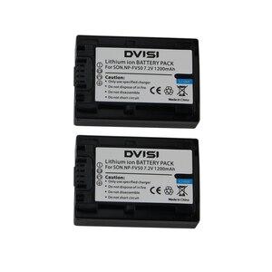 2Pcs/lot NP-FV50 NP FV 50 NPFV50 Rechargeable Battery for Sony NP-FV30 NP-FV40 HDR-CX150E HDR-CX170 HDR-CX300 FV70 FV100 FH50