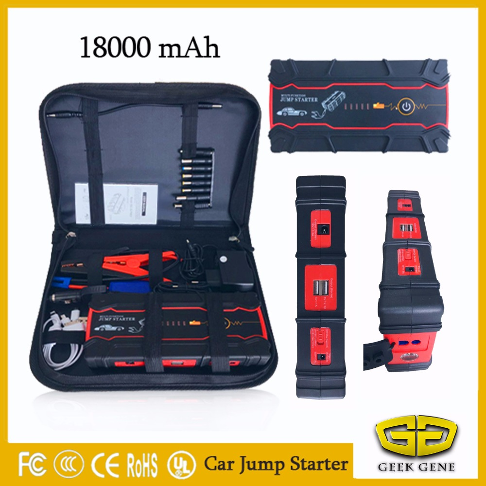 Best quality Car Jump Starter 12V Petrol Diesel Emergency Starting Device 18000mAh Power Bank Car Charger Car Battery Booster 2018 biggest car jump starter portable 18000mah starting device power bank 12v car battery charger starting diesel petrol buster