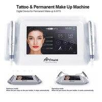 Artmex V8 tattoo machine 7 inch glass touch screen MTS + PMU digital tattoo professional V6 permanent makeup machine for eyebrow