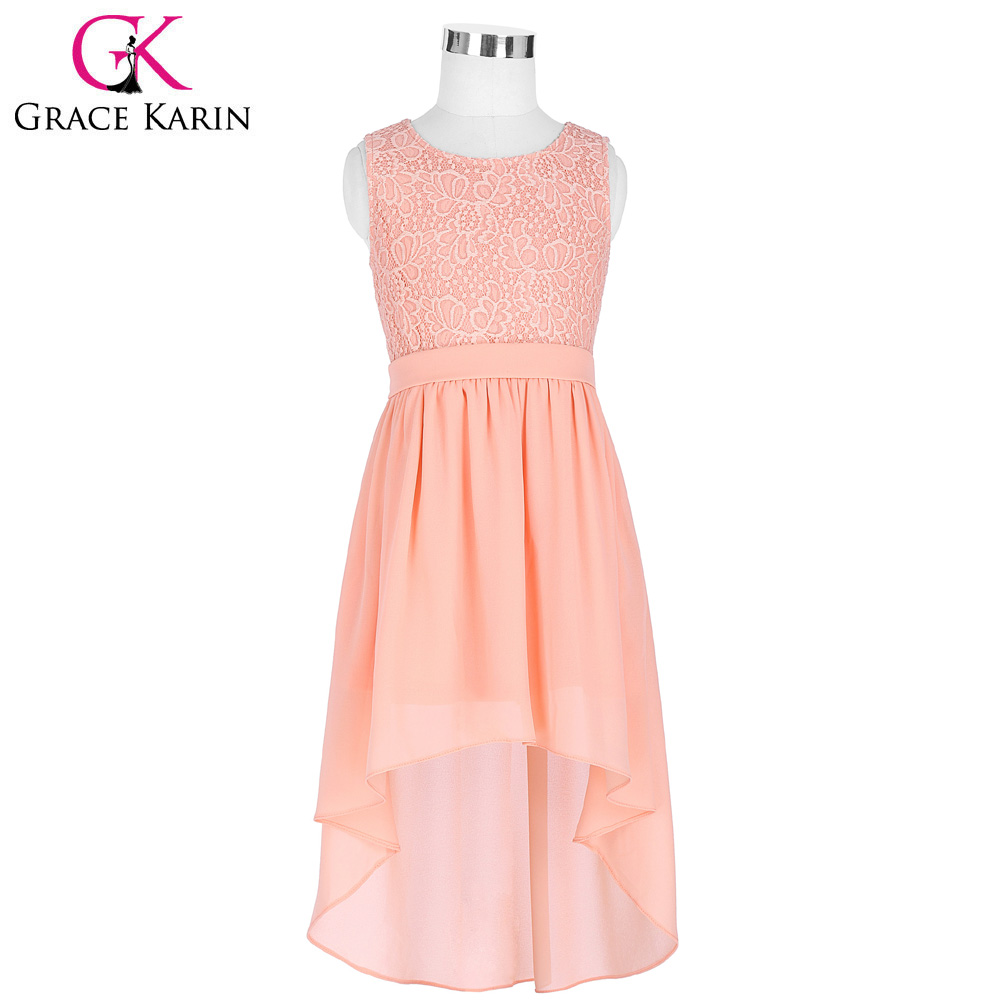 High low flower girl dresses 2017 new arrival chiffon kids for Wedding party dresses 2017