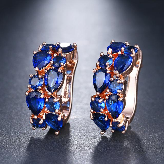 Girls Luxury Rose Gold Flash Earrings Studs