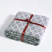 soft cotton blanket for bed sofa aircondition throw blankets adult knitted Bedspread summer plaid quilt