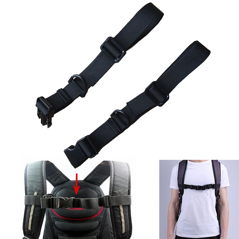 Buckle Clip Strap Adjustable Chest Harness Bag Backpack Shoulder Strap Webbing