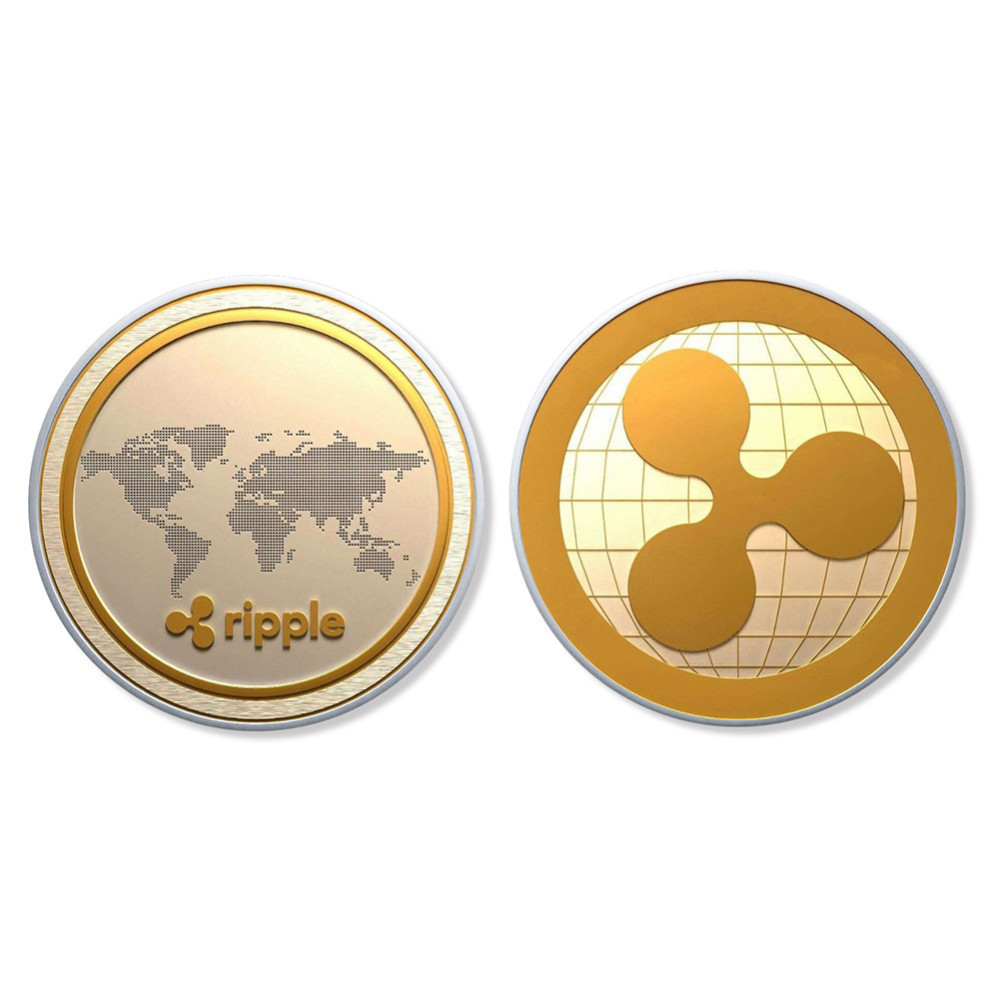 Best buy ) }}Cryptocurrency Ripple Coin Commemorative Round XRP Ripple Crypto Currency