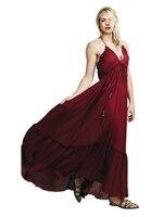 새로운 핫 그리스어 hobe 스타일 등이없는 드레스 섹시한 오프 숄더 V 넥 스트랩 드레스 사람들의 여성 우아한 드레
