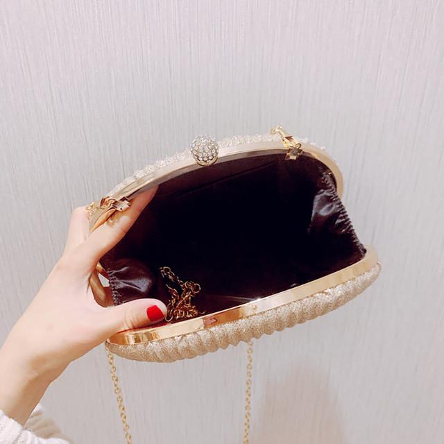 Women Clutches Long Hand Bag Ladies Bling Rhinstone Evening Bag Shoulder Chain Bag Party Banquet Evening Clutch Bags Bolsa