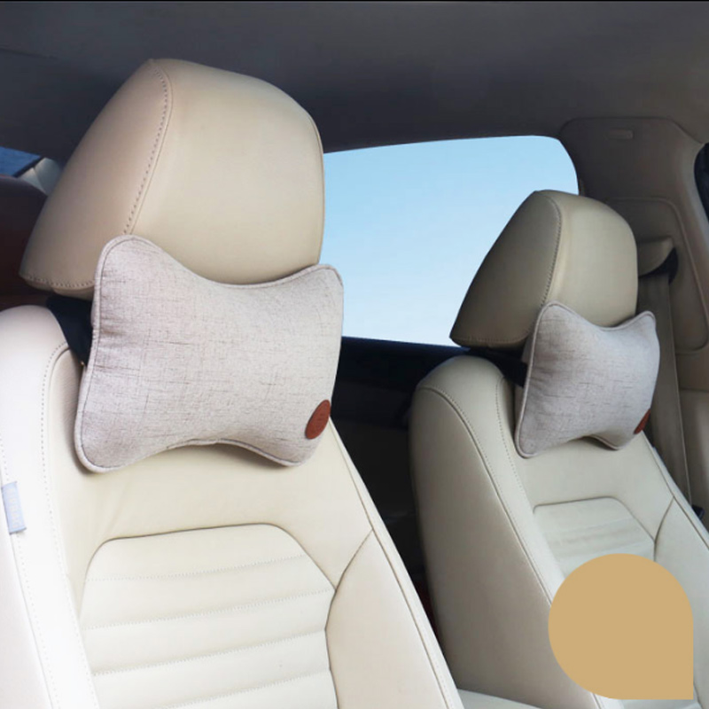 Car Neck Pillows Neck Headrest Breathable Vehicular Pillows Seat Neck Pillows Car-styling Accessories