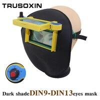 DIN9-DIN13 DARK SHADE Visera de Cuero Fresco de Ojos Máscara de Oscurecimiento Auto Solar Casco De Soldadura/Patch/Gafas de Soldador En verano
