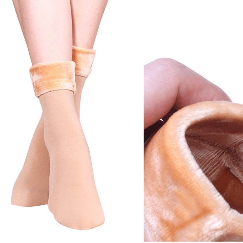 snowshine YLI Wool Cashmere Women Thicken Thermal Soft Casual Solid Winter Socks ...