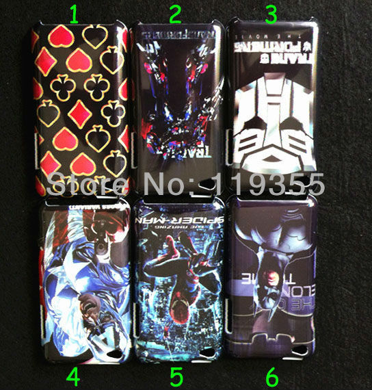 10pcs New Spider-Man & Transformers Style Hard Back Plastic Case For Apple Ipod Touch 4 With Free Shipping -4T101