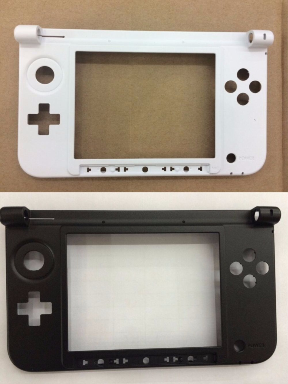 replacement Middle Plastic Frame For 3DS XL housing For 3dsxl case shell black and white(China)