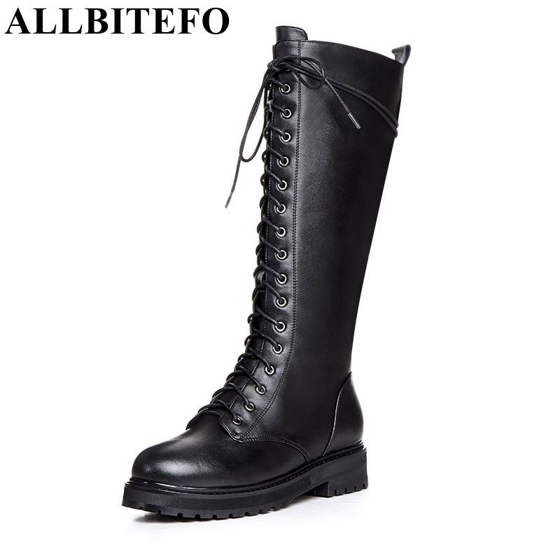 ALLBITEFO Fashion brand Low-heel knot zip round toe winter snow women boots genuine leather+Microfiber botas femininas girl bootALLBITEFO Fashion brand Low-heel knot zip round toe winter snow women boots genuine leather+Microfiber botas femininas girl boot