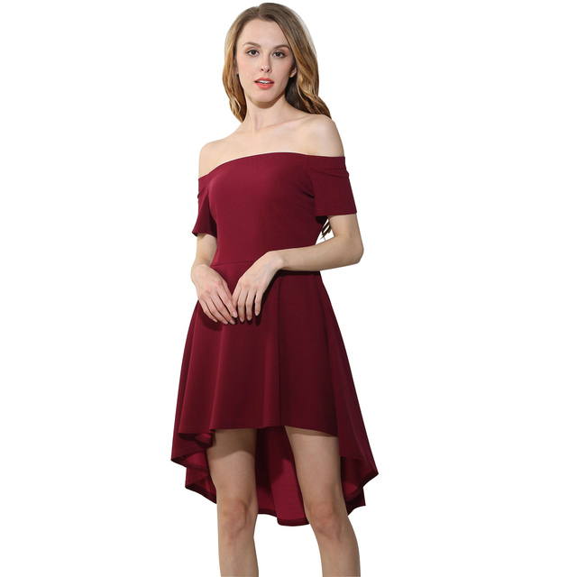 376b02799fd7 2017 Women Off Shoulder Dress Vintage Ruffle Blue Wine Red Black Sexy  Bodycon Dress Club Wear Tight Wrap Party Dresses