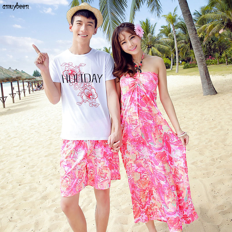 Honeymoon Clothes: Matching Couple Clothes Beach Summer Women Dress Bohemian