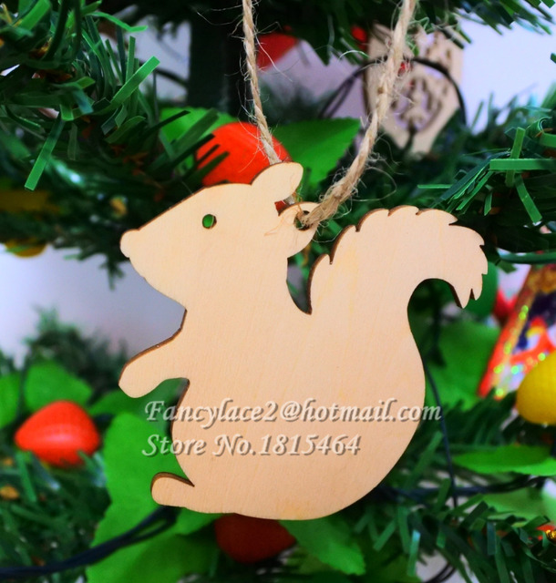 60pcs wish card squirrel wood tags tree decoration ornaments 60pcs wish card squirrel wood tags tree decoration ornaments rustic tags wedding valentine party nature color junglespirit Images