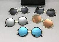 2017 sanfte Runde Sonnenbrille Frauen Männer Marke Designer typ 3 Sonnenbrille für Frauen Legierung Spiegel Sonnenbrille Damen Oculos De Sol