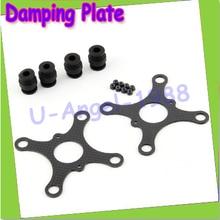 Free shipping + 100% Carbon firbel Damping plate for walkera qr x350 axis AV Dam
