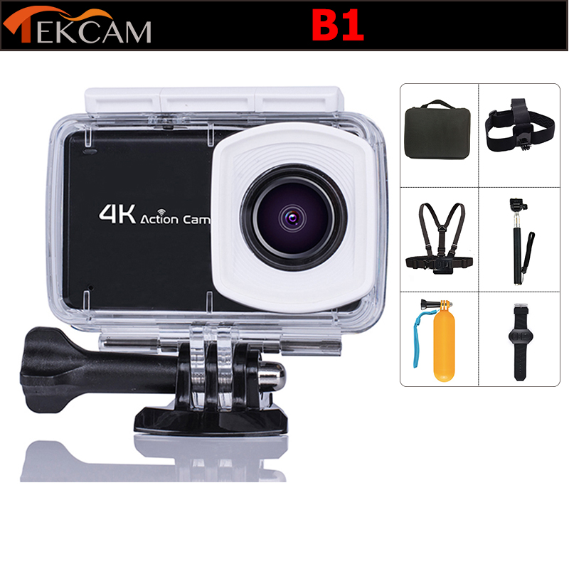 лучшая цена Original Tekcam B1 2.45' Touch screen action camera 4K wifi Ultra HD 1080p/60fps 16MP waterproof Helmet cam sports camera