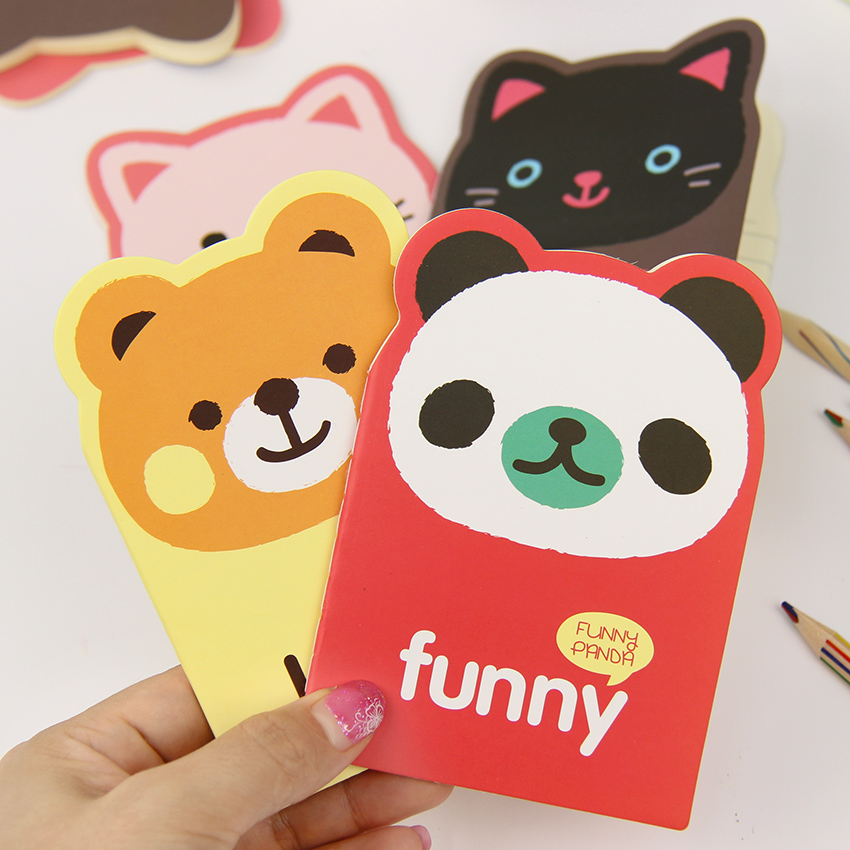 1PC Korean Creative Stationery Notepad Office Supplies School Cute Cartoon Animal Panda Bear Filofax Notebook Diary Students