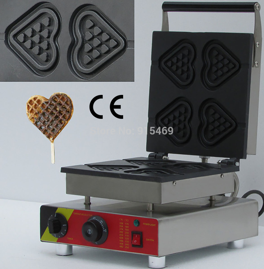 Free Shipping 110v 220v Electric Commercial 4pcs Chocolate Heart Waffle Stick Maker Iron Machine Baker custom electric guitar metalic pink rosewood fingerboard high quality lp guitar free shipping