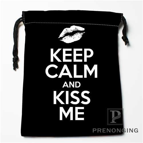 Custom KEEP CALM @01 Drawstring Bags Printing Fashion Travel Storage Mini Pouch Swim Hiking Toy Bag Size 18x22cm 171203-6-2