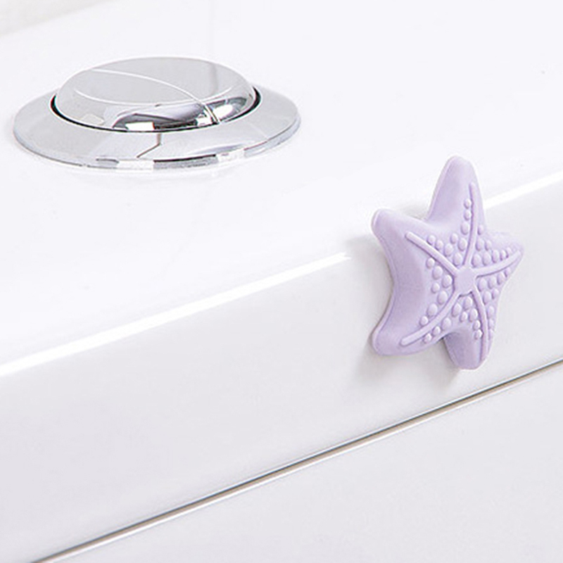 5pcs/Pack Wall Thickening Mute Starfish Modelling Rubber The Handle Door Lock After Protective Pad Baby Safety Protection