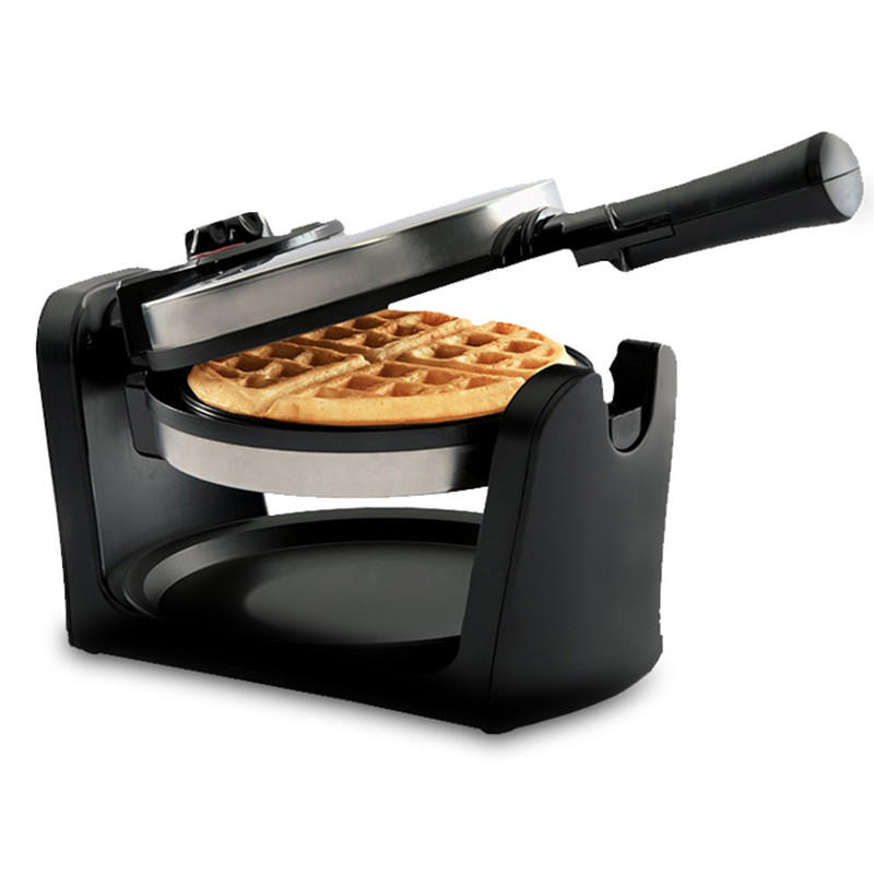 220V Household Electric Waffle Maker Machine Multifunction Rotatory Breakfast Waffle Muffin Bread Machine EU/AU/UK/US Plug