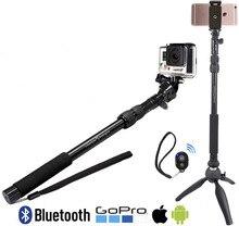 3 in1 Bluetooth Selfie stick 390-865 мм Bluetooth монопод для iPhone Android GoPro SJ камеры + мини-штатив + Bluetooth затвора