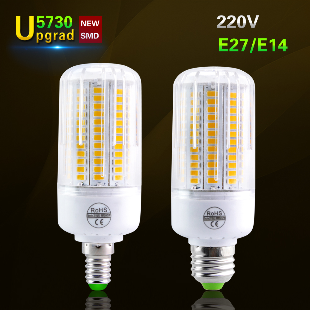 e27 e14 smd5730 lamparas led 220v led corn lamp 24 136led. Black Bedroom Furniture Sets. Home Design Ideas