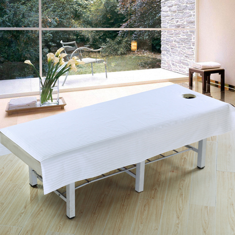 120*195cm Stripe Beauty Salon Sheets 100% Cotton SPA Massage Beauty Bed  Table Cover Sheets With Holes Beauty Salon Dedicated In Sheet From Home U0026  Garden On ...