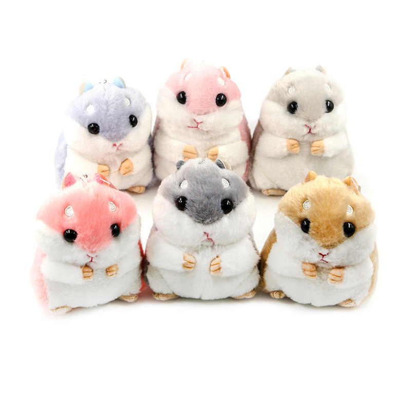 Moda Mini Hamster Fofo Faux Rabbit Fur Pompom Bugigangas Keychain Bolsa Pingente de Chave Do Carro Cadeia Anel Titular Meninas Do Presente Do Partido