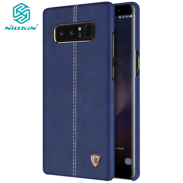 US $15 7 |For Samsung Galaxy Note 8 Case cover Original NILLKIN Englon  Series PU Leather Cover Case For Galaxy note8 Phone Back Shell-in  Half-wrapped