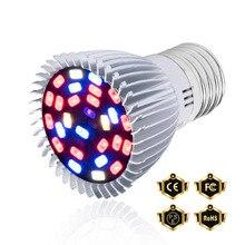 E27 Full Spectrum Led Plant Grow Light E14 Growing Lamp Led Bulbs Seedling Flower 18W 28W Led Phyto Lamp Indoor Grow Tent 220V 28w