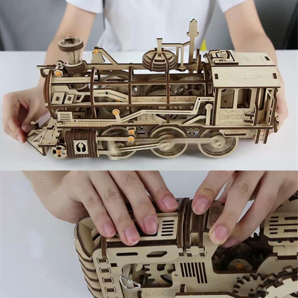 Puzzles Creative bricolage Laser De Coupe 3D Mécanique Modèle puzzle en bois Jeu jouet assemblage Cadeau pour Enfants Adolescents Adulte Jeux fun