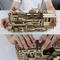 Puzzles Creative DIY Laser Cutting 3D Mechanical Model Wooden Puzzle Game Assembly Toy Gift for Children Teens Adult Games fun
